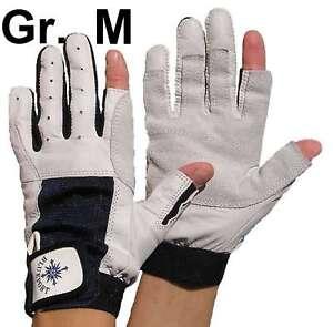 2 Paar BluePort Segelhandschuhe Rindsleder Gr L Rigger Roadie Gloves Handschuhe Bootsport