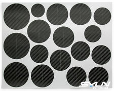 Carbon Black Vinyl Overlay Hood Trunk Wheel Fender Decal Sticker for BMW Emblem