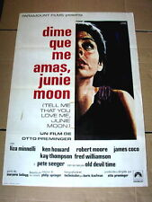 TELL ME THAT YOU LOVE ME JUNIE MOON Movie Poster LIZA MINELLI OTTO PREMINGER