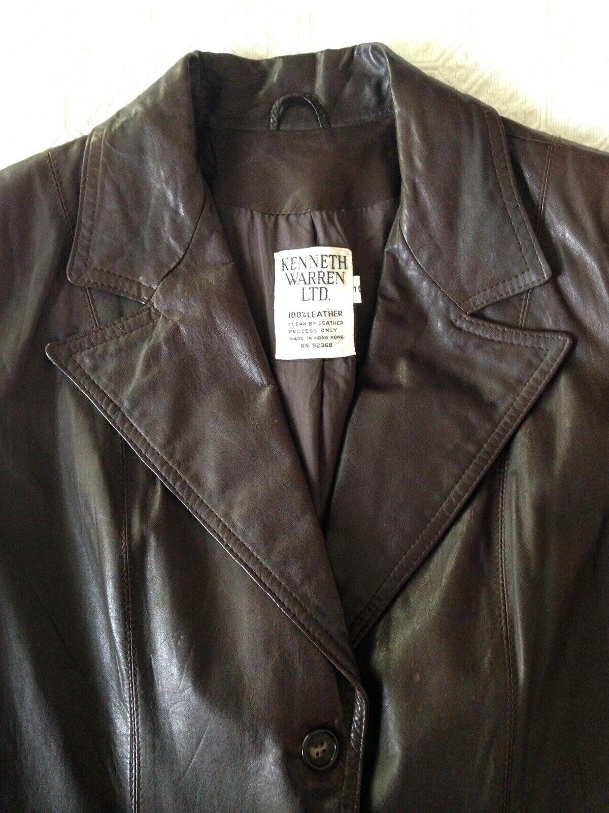 1970S Vintage Women's Dark Brown Leather Blazer J… - image 2