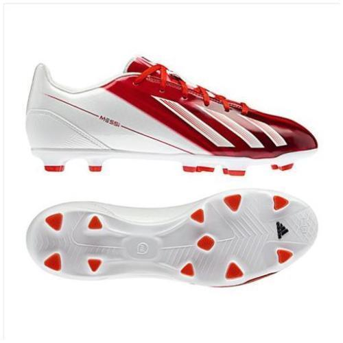 ADIDAS MESSI F10 TRX FG FIRM GROUND SOCCER SHOES Red White.