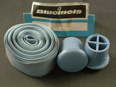 BLUEMELS Light BLUE Handlebar Tape Set With Plugs New Old Stock bicycle bike