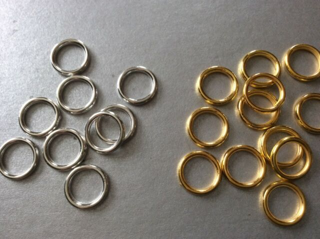 12MM SILVER OR GOLD ACRYLIC RONDELLE LINKS, JEWELLERY CHAIN MAKING LINKING RINGS