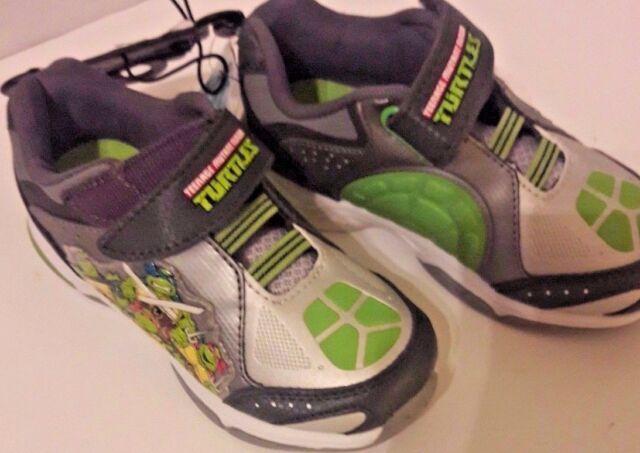 9d4852360c ... boys s ninja turtle light ups tennis shoes size 7 ebay ...