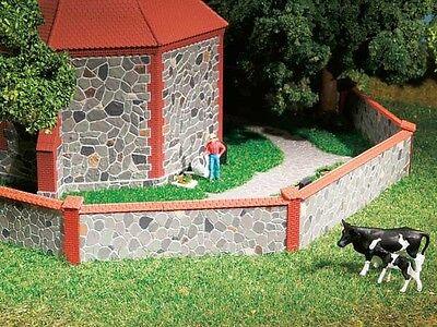 Auhagen 42651 - Pietra Muro Con Decorativo Mattoni -plastica Kit Ho / Oo / Tt