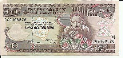 100% Quality Ethiopia 10 Birr 2007 P 48. Xf Condition. 5rw 26abril