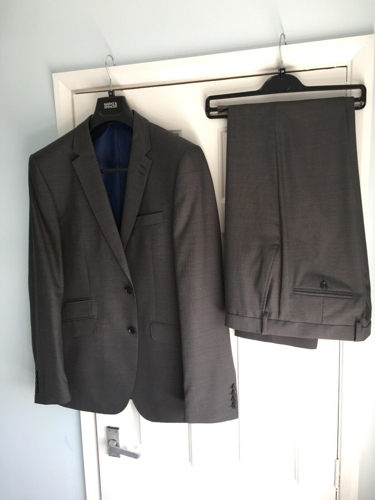 Men's Grey Marks And Spencer Performance Suit