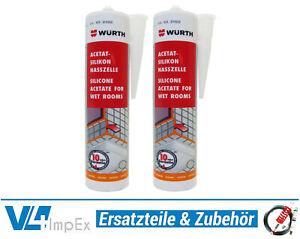 28-87-L-Wuerth-Acetat-Silikon-Nasszelle-2x-310-ml-verschiedenen-Farben