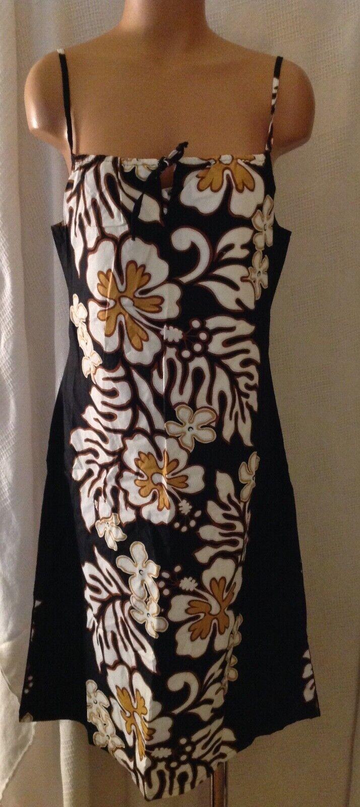 Hilo Hattie Sundress Floral Cotton Medium