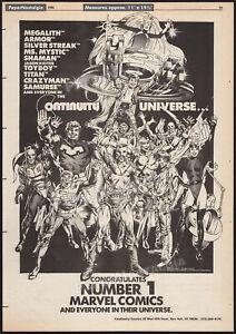 CONTINUITY COMICS / MARVEL__Original 1986 Trade AD / poster__Neal Adams_Megalith