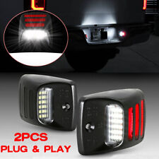 Red Oled Tube Led License Plate Light Rear Bumper Lamp For Toyota Tacoma Tundra
