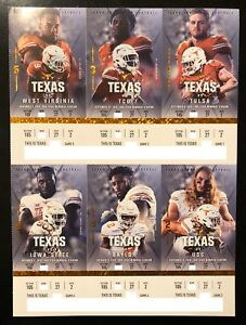 Details about 2018 Texas Longhorns Football Collectible Ticket Stub -  Choose Any Home Game