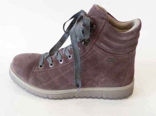 Legero Boot Campania dark clay rosa Weite G Schnür Nubuk Einlage 00653 Stiefel
