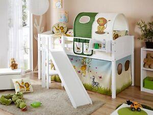 Etagenbett Weiss Mit Rutsche : Mini hochbett mit rutsche tÜv geprüft kids paradise