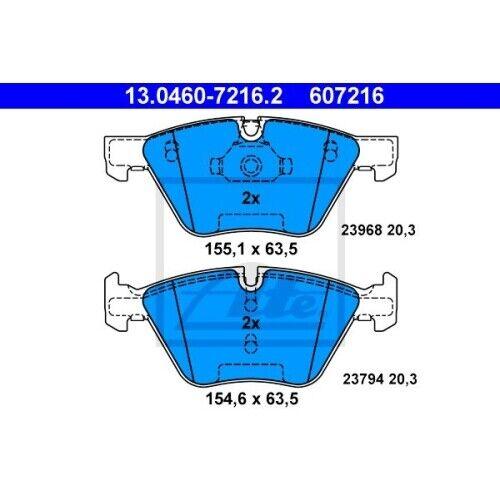 13.0460-7216.2 Bremsbelagsatz Bremsklotz Bremsklötze Bremse Bremsen NEU ATE