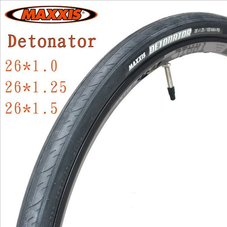 1 Pair  Maxxis Detonator Tyres 26x 1.0 1.25 1.5  for MTB Road Bike Use Durable  100% authentic