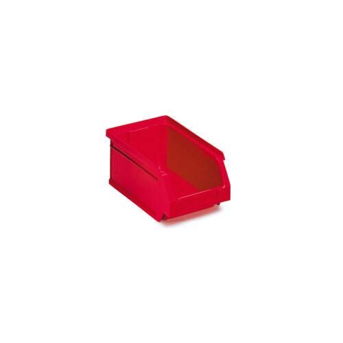 0,8 Liter HxBxT 70 x 100 x 80 mm Sichtlagerkasten 24 Stück rot