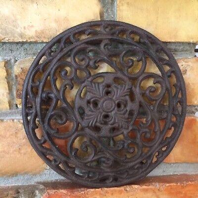 Antike Luftgitter für Kamin Ofen Lüftungsgitter rund D20