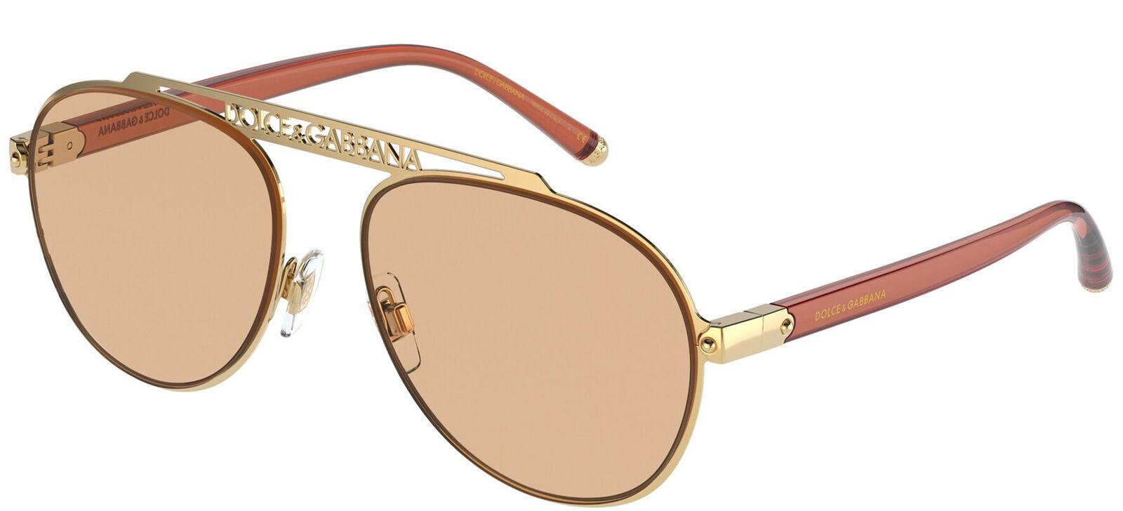 Dolce & Gabbana LOGO DG 2235 Gold/Light Brown 57/16/140 women Sunglasses
