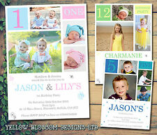 10 Personalised Birthday Party Invitations Joint Invites Boy Girl Photos 1 2 3 4