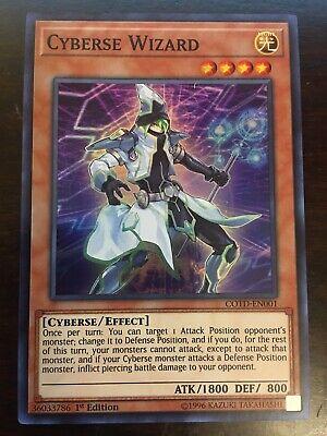 3x YuGiOh COTD-EN001 Cyberse Wizard Super Rare 1st Edition Card