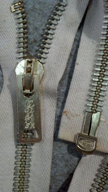 20 Coats Thread /& Zippers Coats and Clark Heavyweight Brass Separating Metal Zipper Navy