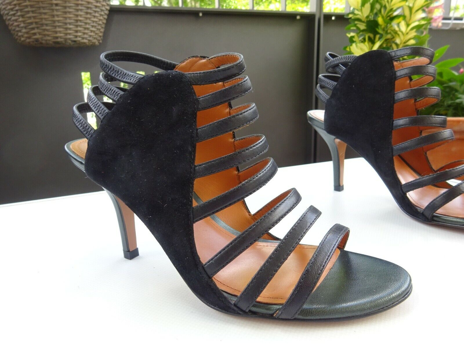 & OTHER STORIES Femmes LUXE Chaussures sandales cuir daim noir taille 38 Neuw