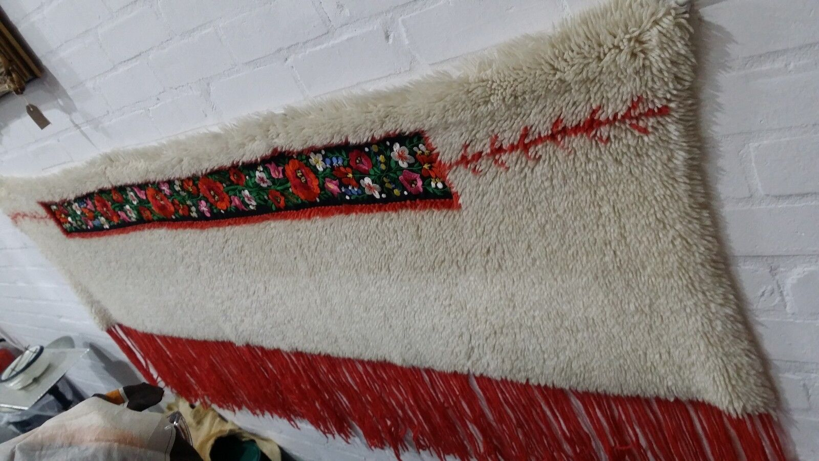 Country style Vintage hand Folk Art Wall Hanging Hand Embroiderot