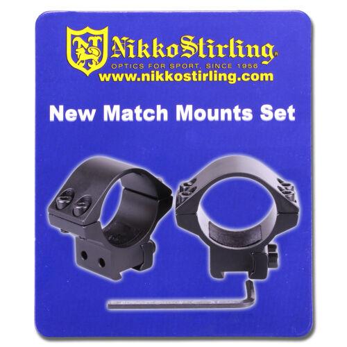 """Nikko Rifle Scope Mounts 2 Pièce 30 mm Tube basse 11 mm 3//8/"""" queue d/'aronde Airgun Anneaux"""