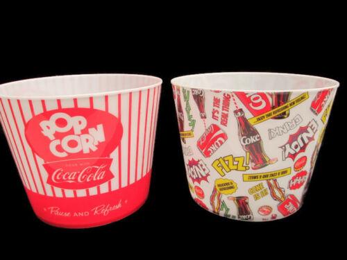 BRAND NEW Coca-Cola  Set of 2 PopCorn Buckets Pop-Art And Classic Patterns