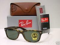 Ray Ban Wayfarer 2132 902 Tortoise Green G15 Sunglasses Authentic