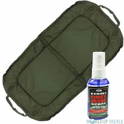 Carp Fishing Beanie Unhooking Mat and Fish Aid Antiseptic Antibacterial Spray