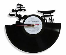 "NEW Handmade Vinyl Record Wall Clock ""Japan"", cool modern decorative art ~ 12"""