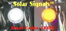 Solar Signals™ White/Amber LED Inserts for Harley 1157 Bullet Style Turn Signals