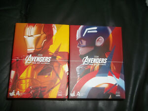 Avengers Age Of Ultron Capitaine Amérique et Iron Man Mark Xliii Artiste Mix Hot Toys