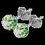 GENUINE TRESOR PARIS BONBON BALL CRYSTAL EARRINGS SPARKLING WITH TITANIUM BACKS
