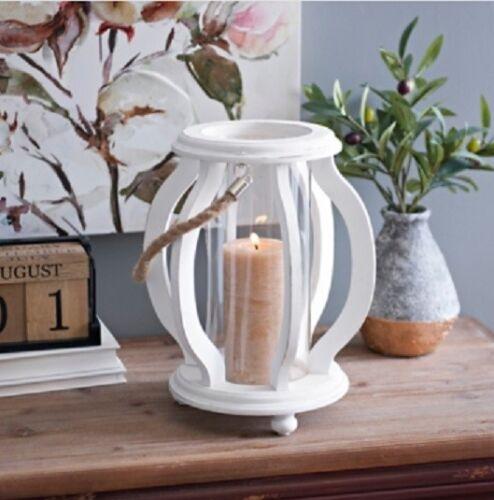 White Cutout Wave Lantern Gorgeous Home Decor
