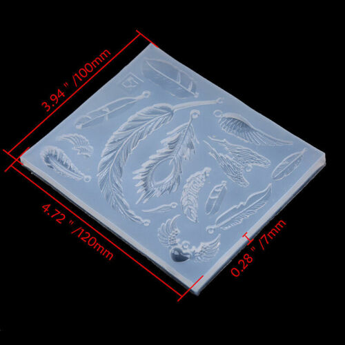 DIY Silicone Mould Resin Jewelry Pendant Mold Craft Ornaments Christmas Gift