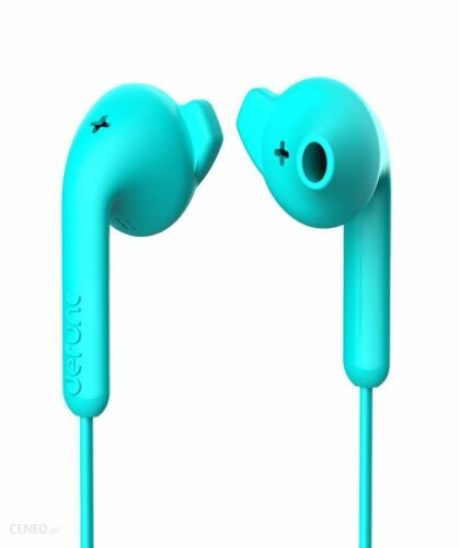 DeFunc Basic Hybrid Earbuds Music Headphones Blue With Microphone and Remote