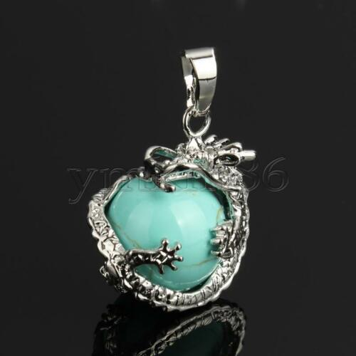 Dragon Wrap Natural Ball Gemstone Stone Crystal Quartz Pendentif Colliers Perles