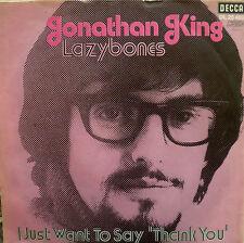"7"" 1971 RARE IN MINT- ! JONATHAN KING : Lazybones"