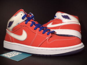 2007 Nike Air Jordan I Retro 1 LS SPORT RED WHITE ROYAL BLUE 315794-611 Size11.5 Reds