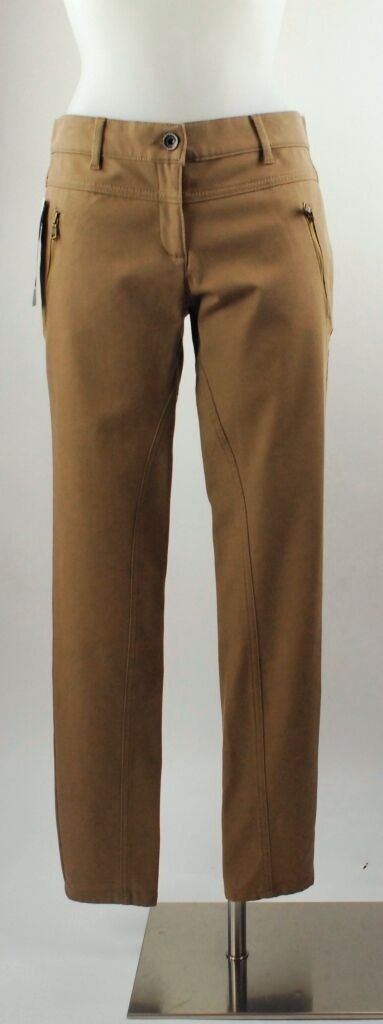 Apriori Hose 38 Jeans brown stretch Baumwolle enges Bein pantalon trousers neu