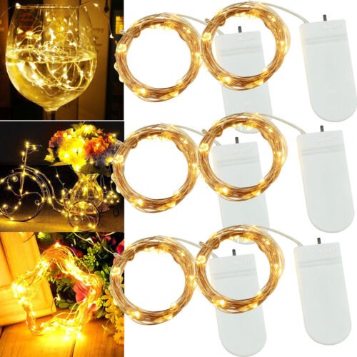 1//6 PCS 20 LEDs Fairy String Lights Starry Rope Copper Wire Battery Lamps TY