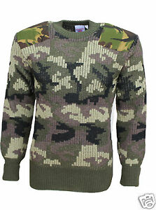 Camouflage Stirling 33104 Britse Woodland Camoflage Pully 100 Woolly wol 5CCA4wq