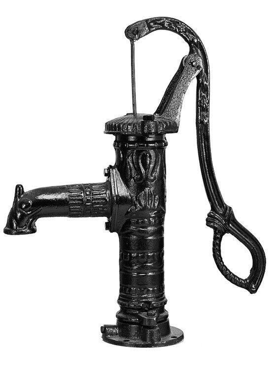 Vintage hand water Pump Cast Iron Well Pond Garden Outdoor Yard 30L/min