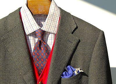 Ermenegildo Zegna 40R Green Check Wool/Cashmere/Silk 3-Roll/2 Blazer - $2,495.00
