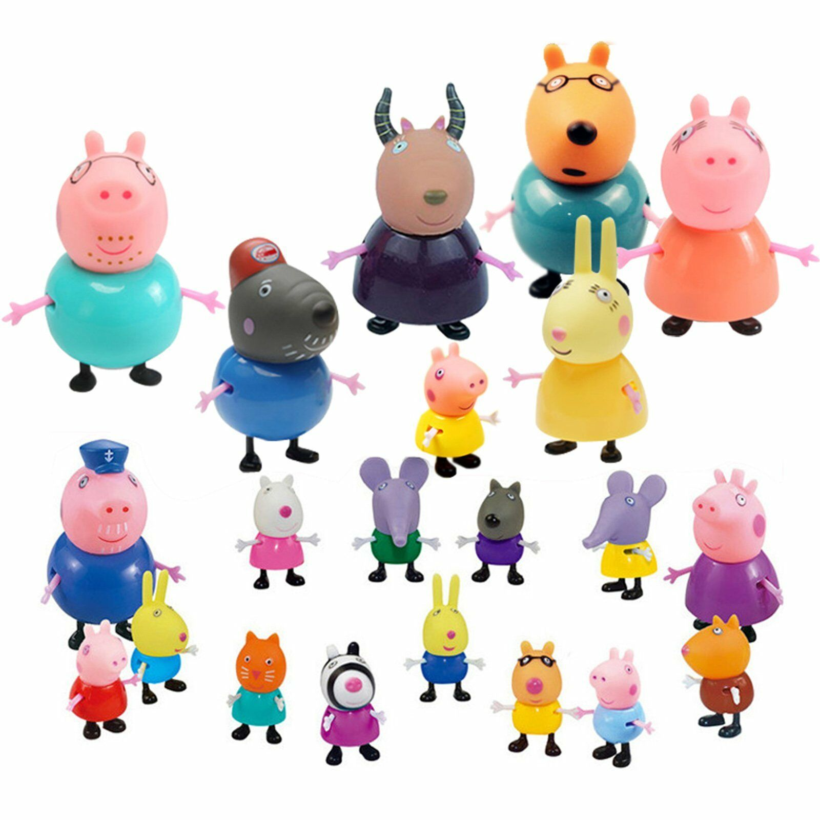 Best Peppa Pig Toys : Kids gift pcs peppa pig family friends emily rebecca