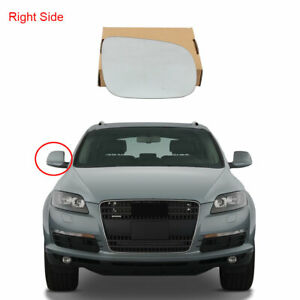 Right Hand Diver side Clip on Heated Wide angle Not For Auto Dims Door//Wing Mirror For AdQ7 2009 July To 2014