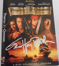 GEOFFREY RUSH ** PIRATES OF THE CARIBEAN * SIGNED PHOTO  DISNEY DVD MOVIE COVER